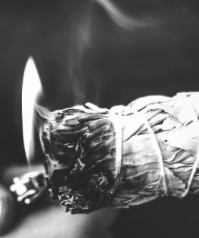 shielding, burning sage